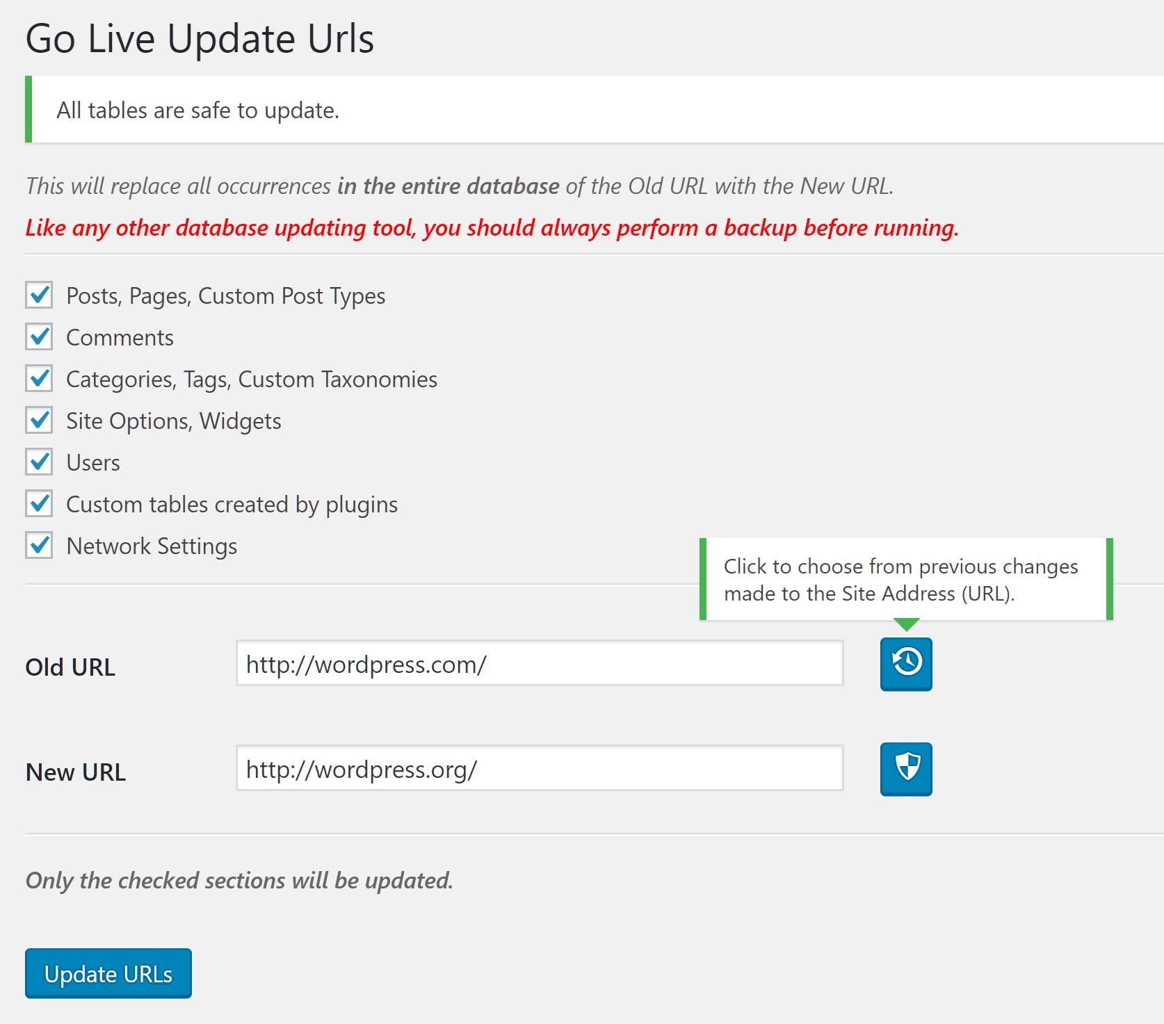 Go Live Update URLs PRO – Version 2 2 0 – Released – Mat Lipe Dot Com